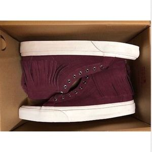 beb1590286 Vans Shoes - Vans Sk8 Hi Moc Suede Port Royale Blanc Shoes